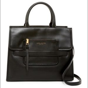 Marc Jacobs Madison Leather Tote Black Bag New